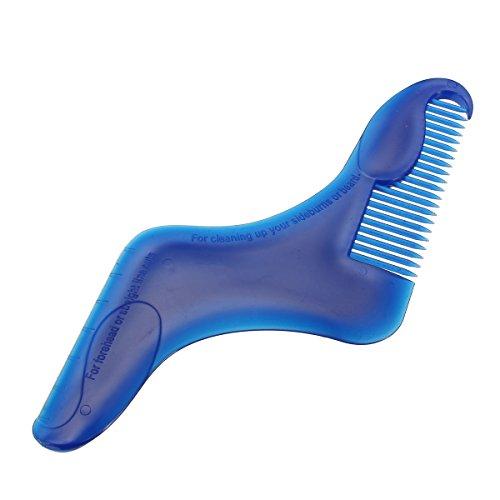 Bluelover 1st baardkam sjabloon anti-statische trimmer baard kam borstel haar styling gereedschap voor mannen baard trimmen