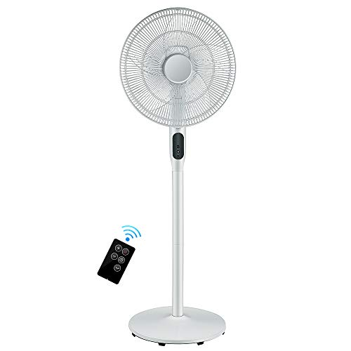 Pedestal Fan - Oscillating Standing Fan with Remote Built-...