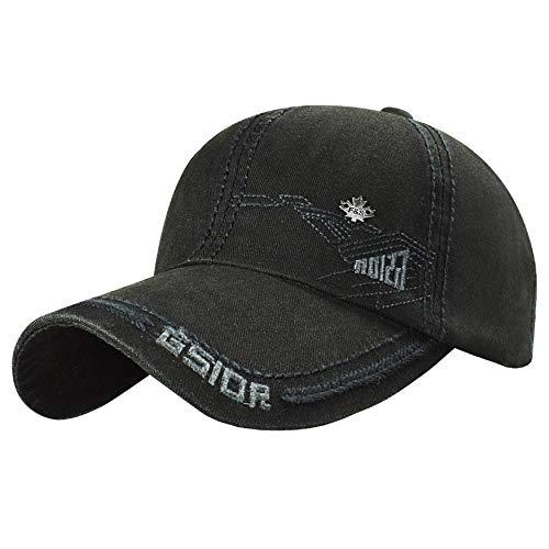 UMIPUBO Gorra de Béisbol Nueva Unisex Ajustable de Algodón Estilo Vintage Marca Bordado Sombreros Casuales de Deportes Hip Hop Cap (Negro)