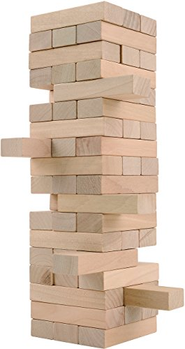 CoolToys Timber Tower Wood Block Stacking Game – Original Edition (48 Pieces)