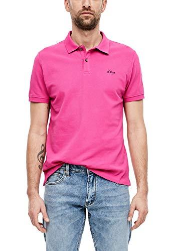 s.Oliver RED LABEL Herren Poloshirt mit Waffelpiqué-Struktur pink XXL