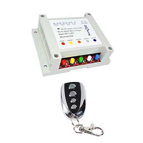 yotijar Módulo de Interruptor de Hogar Inteligente WiFi de Control Remoto Inalámbrico de 4 Canales 433MHz # 5