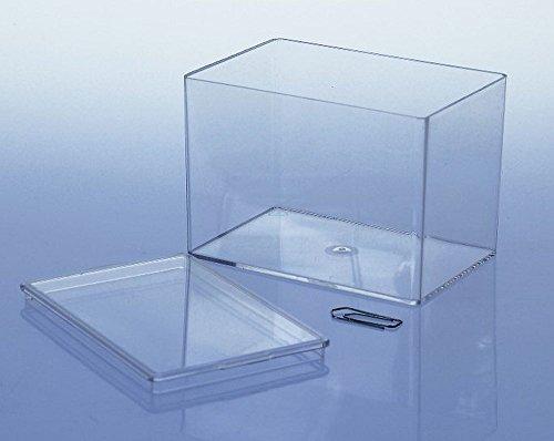 Variocolors 10 x Klarsichtdosen transparent 95x65x65mm Kunststoffbox mit Deckel