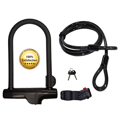 Cocoweb Armbar Bike U-Lock with LotusLock Bicycle Flex Cable Bike Lock Combo - SLABBK-SLLLBK60