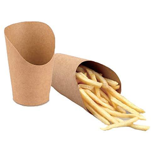 Enpack 1000 Papp Behälter für Pommes/Wraps/Einwegschale in Braun aus Kraftkarton 5.5 oz Einwegschale Einweggeschirr Umweltschonend Reines Papier to go Schale für Gastronomie oder Privat