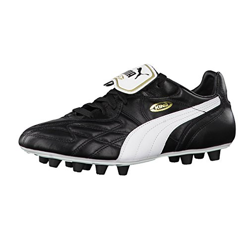Puma King Top di FG, Scarpe da calcio Man (Football), Nero (black-white-team gold), 7.5