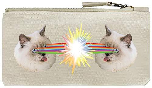 Grindstore Federmäppchen Crazy Laser Kitten 21 x 11 cm cremefarben