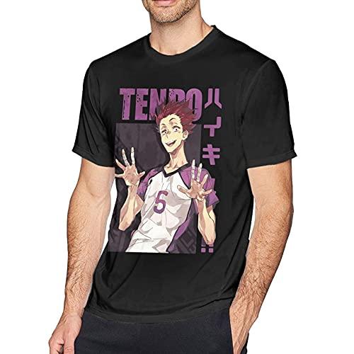 XCNGG Camisetas de algodón de Manga Corta para Hombres Adolescentes Camisetas de Entrenamiento de Secado rápido con Cuello Redondo