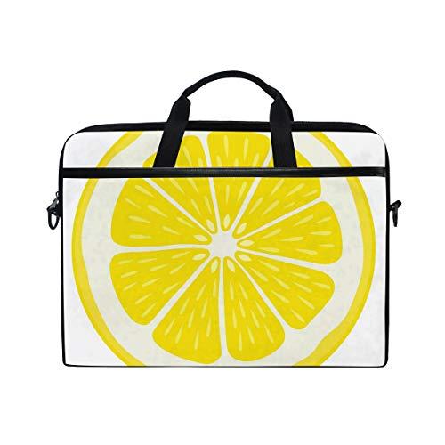 AHOMY 15 Inch Laptop Bag Citrus Fruit Orange Lemon Slice Shoulder Laptop Sleeve Case Bag with Adjustable