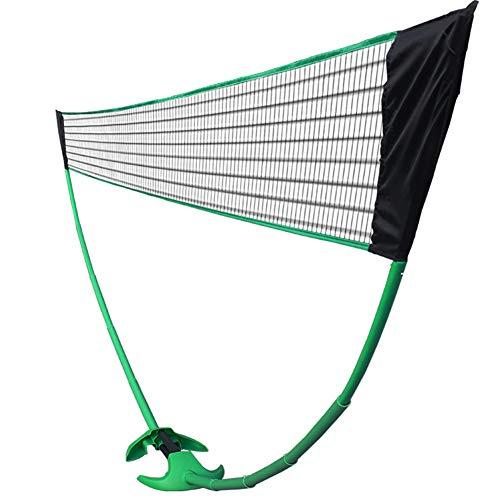 Raqueta de bádminton Conjunto badminton Conjunto con la red y bolsa de transporte azul portátil Tenis red de voleibol Conjunto de jardín al aire libre/ Corte/ Playa/ Camino de entrada, 4,8 * 1,55 M