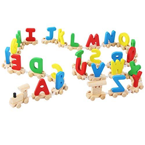 Coddington Schreiben Zug Holz Alphabet Eisenbahn ABC Alphabet Zug Kinderkleinkind Alphabet Train Vorschulkinder Kleinkind pädagogisches Spielzeug