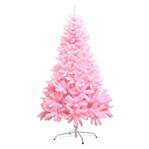 GJXJY Pink Christmas Tree Decorations Ornaments, Romantic Artificial Safety PVC Christmas Tree with Stand, Indoor and Outdoor Decorations.180cm/6ft