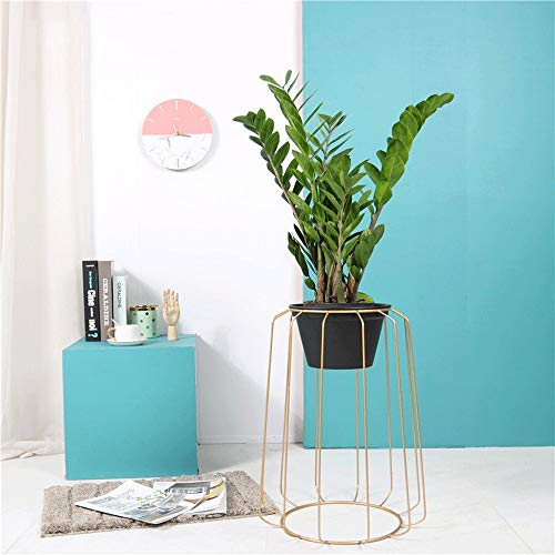 WOF ModernFlower Pot Stand - Planten en Planters Tuin Grote Planter met Metalen Stand Bamboe Lade voor Succulent Planter Cactus