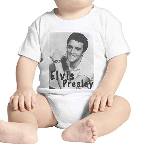 Justaucorps pour bébé Fashion Elvis Presley Chanteur Smile Sorririz – Blanc - Blanc - 0-3 mois
