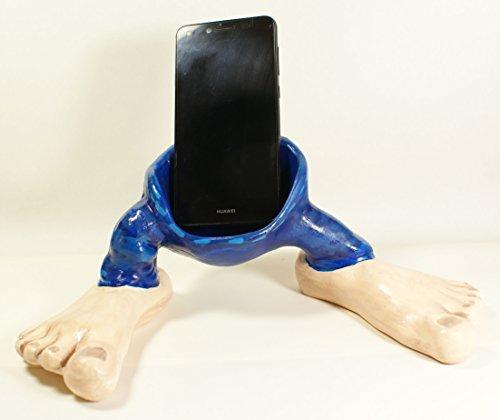 Hose bringt Smartphone, handgemachte Keramik, signiert ITALDESIGN Fogliaro. Höhe 11 cm - Breite 29 cm - Tiefe 19 cm - Gewicht 334 gr Mit Echtheitszertifikat geliefert 'N ° BR000004 mit Unterschrift.