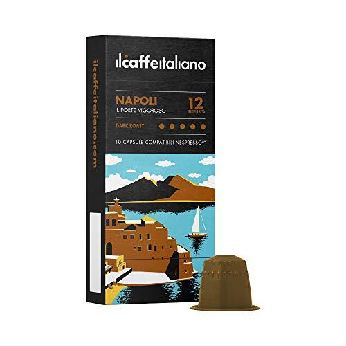 FRHOME - Nespresso 100 Capsule compatibili - Il Caffè Italiano - Miscela Napoli Intensità 12