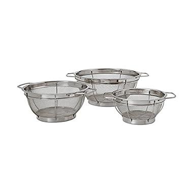 Farberware Stainless Steel Colander Sieves - Set of 3, Multi Sized
