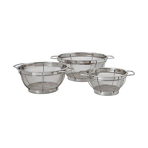 Farberware 5181490 Stainless Steel Colander Sieves-Set of 3, Multi Sized