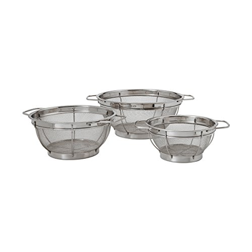 Farberware 5181490 Stainless Steel Colander Sieves-Set of 3, Multi Sized