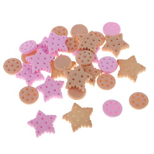 Hellery 30pcs Harz Flatback Verschönerung Craft Button White Dolphin Biscuits - Kekse, wie beschrieben