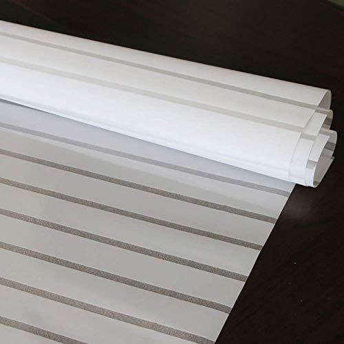 N / A Fensteraufkleber mit Jalousiestreifenmuster, elektrostatische Aufkleber, Schutz der Privatsphäre, abnehmbare, haltbare, mit Vinyl gefrostete Fensterdekorfolie A81 50x200cm
