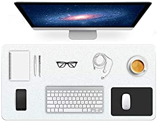BigHala Clear Desk Pad Office Blotter Writing Mats Non-Slip Textured Table Protector on Top of Desks for Laptop Computer D...