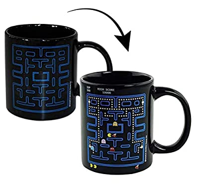 Official Pac-Man Paladone Heat Change Mug in a gift box. Fill with a hot beverage and watch the game characters appear!