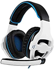 Auricolare da Gioco for Le Cuffie PC Xbox One PS4 PS5 con Microfono Mic for Computer (Color : White)