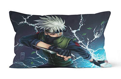 Funda de almohada Naruto – Hatake Kakashi – Regalo de 50 x 75 cm, suave y cómoda