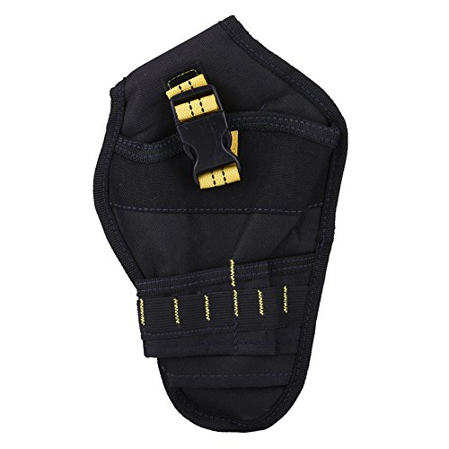 Soporte para taladro eléctrico - Soporte para taladro eléctrico multifuncional Bolsa de almacenamiento Oxford Funda para herramientas Bolsa de bolsillo(amarillo y negro)