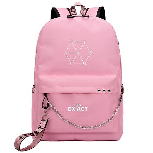 Kpop-EXO Album EX'ACT Mochila informal, utilizada para el apoyo EXO Band Music Fans...