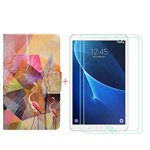 szjckj 2 Piezas Protector de Pantalla + PU Carcasa para Samsung Galaxy...