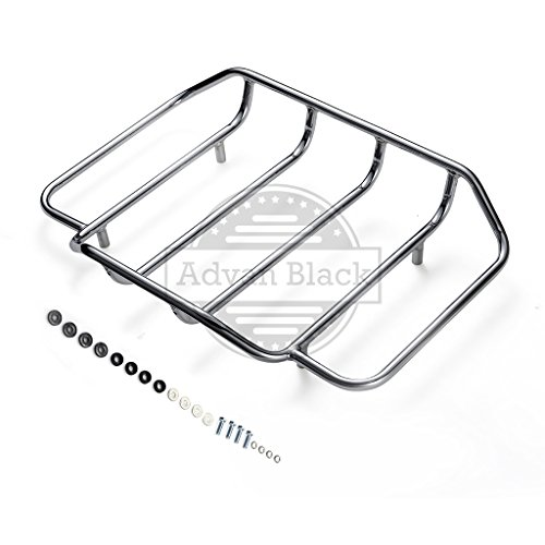 Us Stock Air Wing Tour Paks Pack Luggage Rack Fit for 2014 2015 2016 2017 2018 Harley/Advanblack Hard Tour Pack Luggage Trunk Suitcase (Chrome)