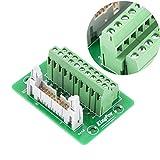 アダプター端子台オスヘッダー変換モジュールブレイクアウトボードPLCインターフェース端子コネクターパネル取り付け、機械設備用取り付け脚付き