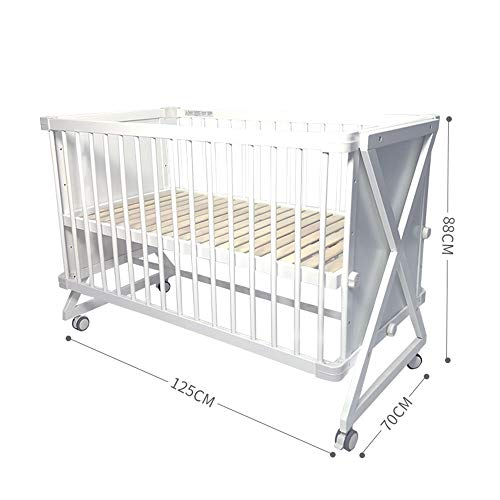 Purchase Dzhyy Crib Multi-Function Game Bed Newborn Bed Can Be Stitched Children's Bed,White,Package...
