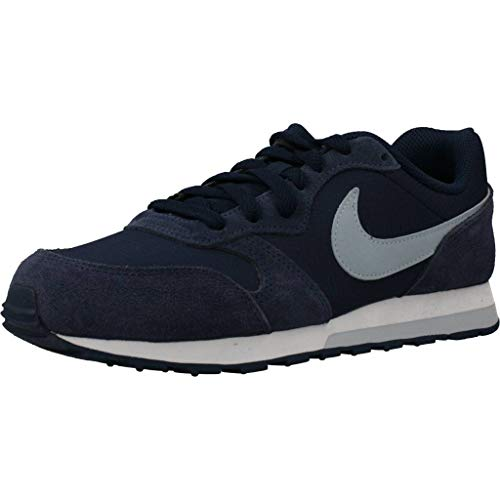 Nike MD Runner 2 PE (GS), Zapatillas de Correr, Midnight Navy/Light Armory Blue, 38 EU