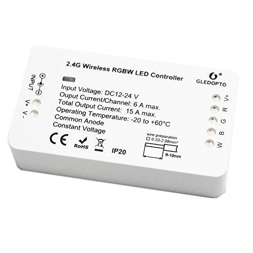Striscia LED Centralina di Controllo, Smart Switch RGBW per ogni striscia LED 12-24V, Adattatore ZigBee Light Link, compatibile con Philips Hue Bridge, Amazon Echo Plus, SmartThing