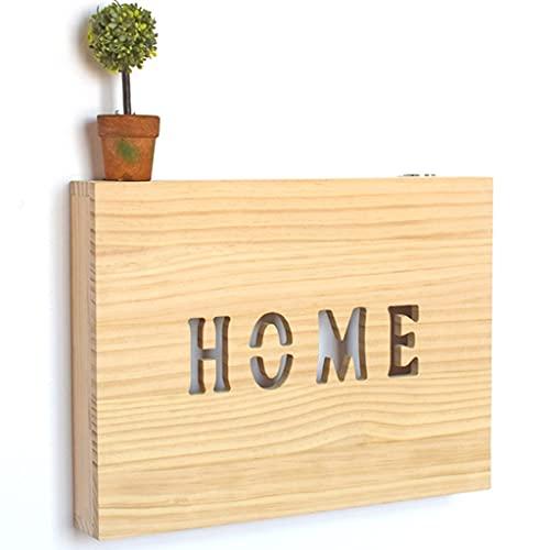 Soporte para enrutador montado en la pared, estante de pared flotante, caja de almacenamiento WiFi, caja organizadora de cables, protector de regleta de enchufes, ( Color : Home , Size : 40*39.5cm )