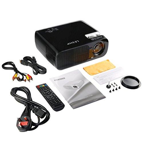 002-fr3-ES Proyector de Video LESHP 2600 LM Home Cinema Theater Soporte 1080P HD 3D BL20 Negro UK Plug