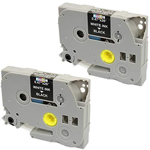 2 Kassetten TZe-335 TZ-335 weiß auf schwarz 12mm x 8m Schriftband kompatibel für Brother P-Touch PT-1000 1005 1010 3600 D200 D210 D210VP D450VP D600VP E100 E550WVP H101C H105 H110 H300 H500 P700 P750W