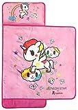 Tokidoki Neonstar Unicorno Rainbow Nap Mat - Built-in Pillow and Blanket Featuring Unicorno - Super Soft Microfiber Kids'/Toddler/Children's Bedding, Ages 3-5 (Official Tokidoki Product)