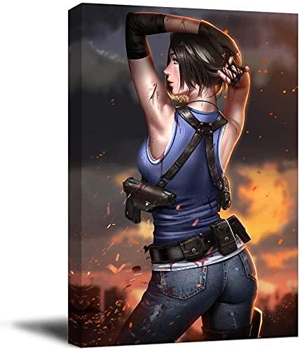 KINGAM Resident Evil 3 Jill - Póster moderno para pared, di