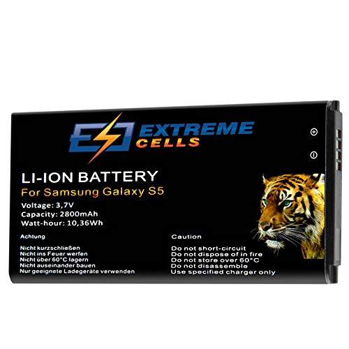 Extremecells batterij voor Samsung Galaxy S5 SM-G900F Accu Battery Battery Battery Battery EB-BG900 G903 Plus EB-BG900BBE reservebatterij