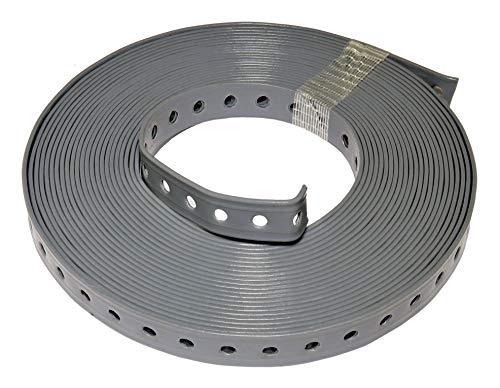 1 Rolle (10 m) Lochband kunststoffummantelt grau (19 mm)