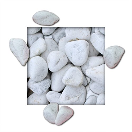 25 kg Marmorkies Carrara Weiss Körnung 60/100 mm direkt vom KiesKönig®