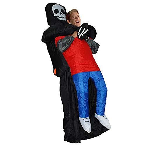 Vent Toys - Disfraz inflable de juguete para fiestas de carnaval, disfraz de Dios de la Muerte para adultos, para nios y nias (color: negro, tamao: para adultos: 1,5-2 m)