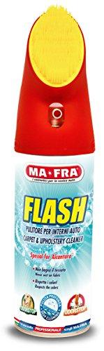 Mafra H0486, Flash, Spray Nettoyant Intérieur Voiture, avec Formule Odorstop, Agit sans mouiller Les Tissus, Efficace sur Velours, Alcantara et Surfaces délicates, avec Brosse Intégrée