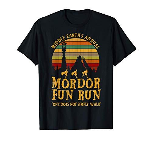 Middle Earths Annual Mordor Fun Run One Does Not Simply Walk T-Shirt
