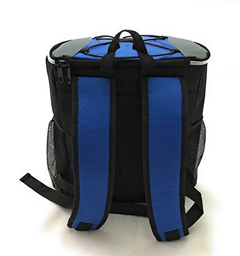 Zaino Delivery Termico BackPack Blu 19 litri Per Cibo e Bevande Da Asporto