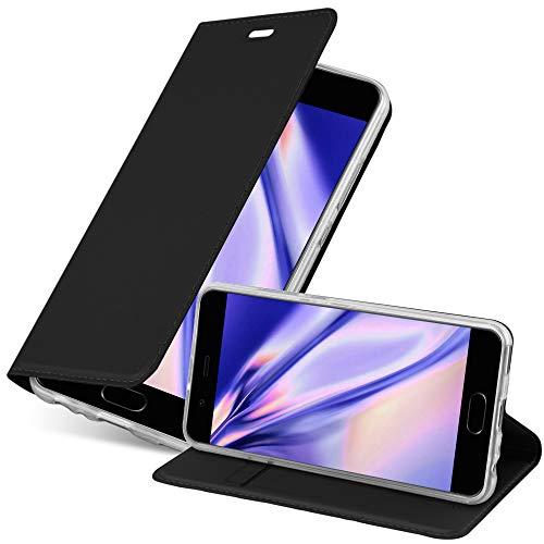 Cadorabo Funda Libro para Huawei P10 en Classy Negro - Cubierta Proteccíon con Cierre Magnético, Tarjetero y Función de Suporte - Etui Case Cover Carcasa